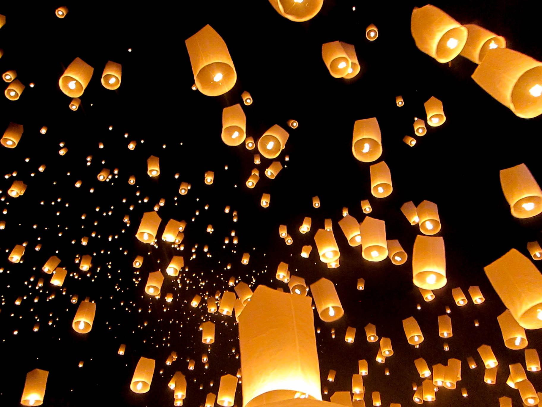Sky lantern festival Gabrovo