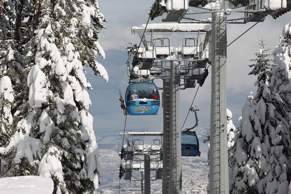 Bansko ski lift works
